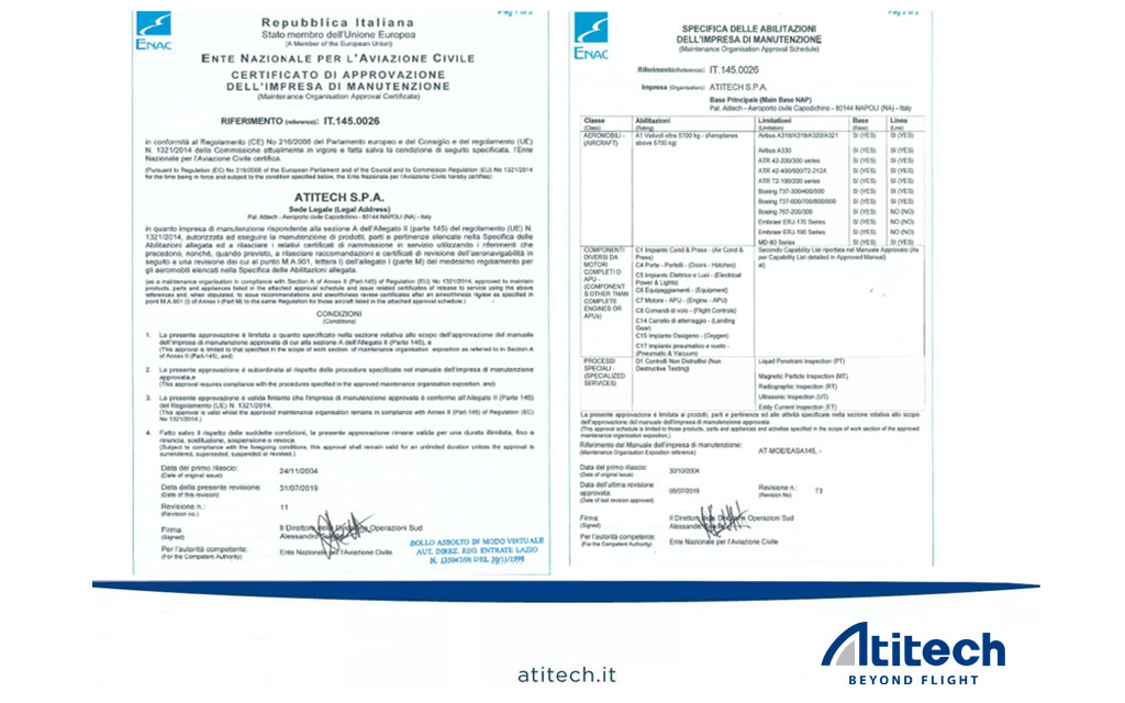 A330 base maintenance certification granted by ENAC